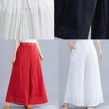 Load image into Gallery viewer, Summer new cotton and linen white wide leg pants loose yoga Chinese trousers