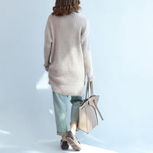 Load image into Gallery viewer, Thick warm woolen high neck sweater loose slim fit casual long sleeve knitted sweaters