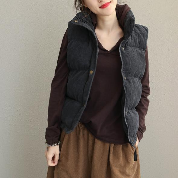 Thicken Warm Casual Waistcoat Women Casual Winter Tops