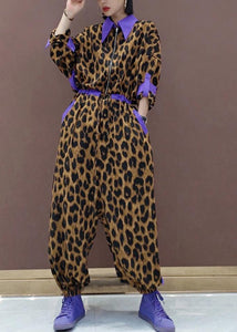 Unique Leopard Fall Fashion Spring Jumpsuit Pants