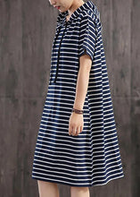Load image into Gallery viewer, Unique cotton clothes Women Casual Classic Wild Striped Hooded Loose Dress