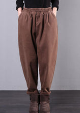 Load image into Gallery viewer, Unique elastic waist chothes women's chocolate Inspiration pockets harem pants