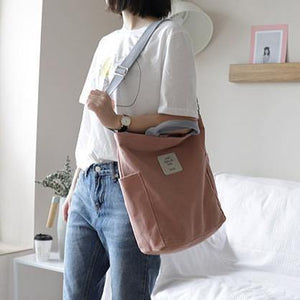 Vintage Upcycle Casual Patchwork Große Leinwand Schulter rosa Tasche