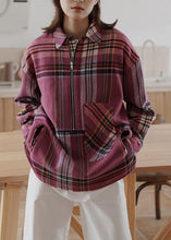 Load image into Gallery viewer, Vintage plaid woolen sweater female winter Korean version of the loose warm top