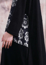 Load image into Gallery viewer, Vivid patchwork prints tunics for women Work black Plus Size Dress fall