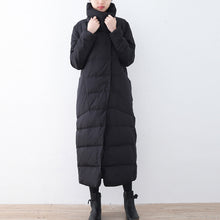 Afbeelding in Gallery-weergave laden, Warm black down overcoat Loose fitting down jacket New high neck overcoat