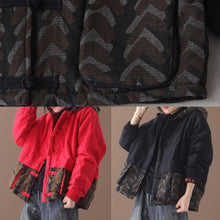 Load image into Gallery viewer, Warm black women parka plus size Jackets & Coats patchwork hooded short outwear