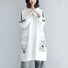 Load image into Gallery viewer, White hoodies oversized women plus size winter dresses casual pullover