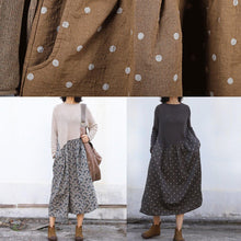 Load image into Gallery viewer, Winter o neck Sweater patchwork dresses Classy nude Mujer sweater dresses