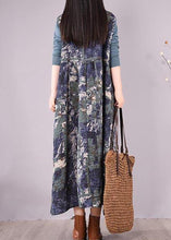 Load image into Gallery viewer, Women Blue Print Wardrobes Patchwork Robes Spring Dresses