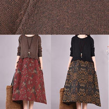 Load image into Gallery viewer, Women Chocolate Patchwork Print Clothes O Neck Loose Spring Dress