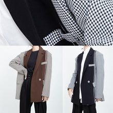 Load image into Gallery viewer, Women Fashion patchwork coats khaki Art outwear