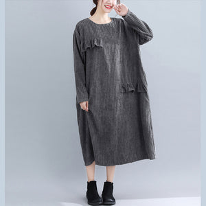 Women Kintted Dress Casual Loose Pullover Long Shirt