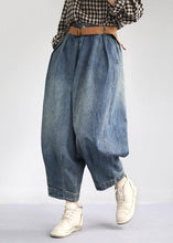 Load image into Gallery viewer, Women Spring Vintage Solid Loose Turnip Pants Jeans