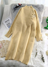 Load image into Gallery viewer, Women beige Sweater dresses Largo half high neck daily wild knit dresses