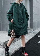 Load image into Gallery viewer, Women hooded Fine clothes green loose women coats fall