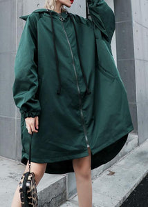 Women hooded Fine clothes green loose women coats fall