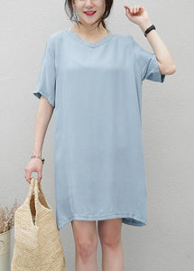 Women navy clothes For Women v neck side open loose Dresses