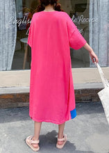 Load image into Gallery viewer, Women o neck patchwork dress rose Letter Traveling Dresses