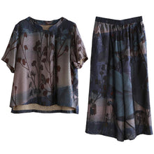 Load image into Gallery viewer, Women's casual two-piece loose-fitting sleeves and wide-leg pants