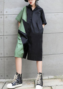 Women's summer patchwork jumpsuit loose slimming harem pants