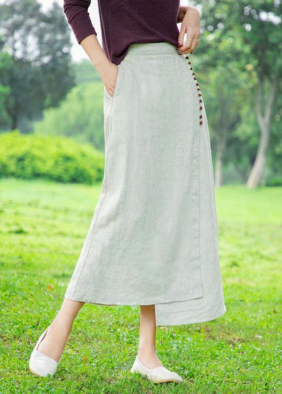 Women's white skirt, loose high waist A-line skirt
