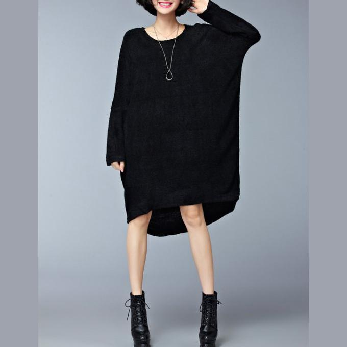 1ff5b83b7f8 autumn casual black sweater dresses oversize long sleeve knit ...