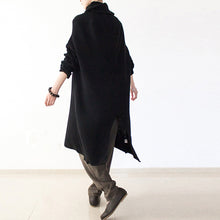 black winter dresses oversized long cotton sweaters warm knit dresses turtle neck 2017