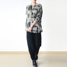 Load image into Gallery viewer, black winter pants thick cotton pants loose harem trousers jogging