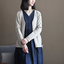Load image into Gallery viewer, boutique nude cozy sweater Loose fitting knitted blouses New v neck fall blouse cardigan