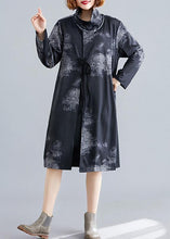 Load image into Gallery viewer, boutique plus size coat fall black Turtleneck pockets coat