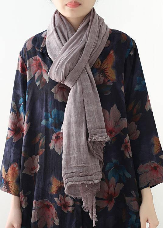 casual cotton linen striped scarves new Cinched big scarf