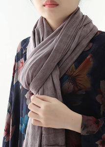 casual cotton linen striped scarves new wrinkled big scarf