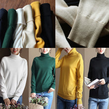 Load image into Gallery viewer, chunky nude winter sweater oversized knit sweat tops 2017 high neck pullover