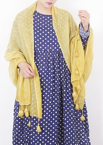 cotton linen scarf shawl casual yellow scarves