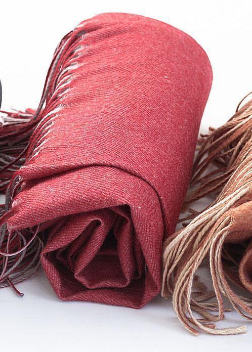 dark red women warm scarves warm rectangle big shawl