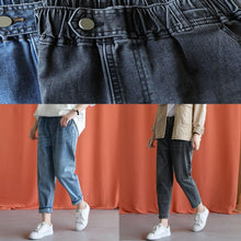 Load image into Gallery viewer, denim blue 2019 new wild elastic waist pants