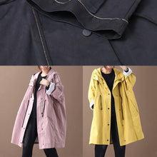 Load image into Gallery viewer, diy black top quality clothes Wardrobes hooded drawstring pockets outwears