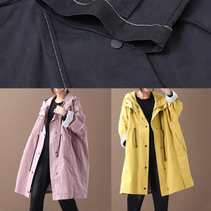 diy black top quality clothes Wardrobes hooded drawstring pockets outwears