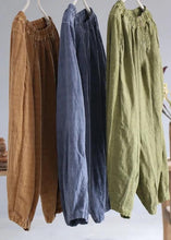 Load image into Gallery viewer, diy linen clothes For Women Korea Pure Color Retro Soft Comfortable Loose Bloomers