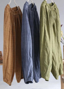 diy linen clothes For Women Korea Pure Color Retro Soft Comfortable Loose Bloomers