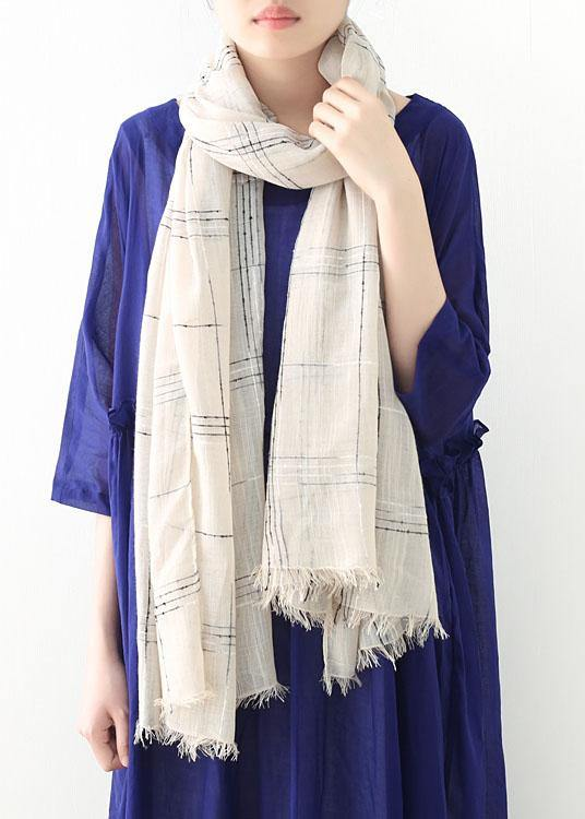 fall cute khaki plaid scarves soft striped big scarf