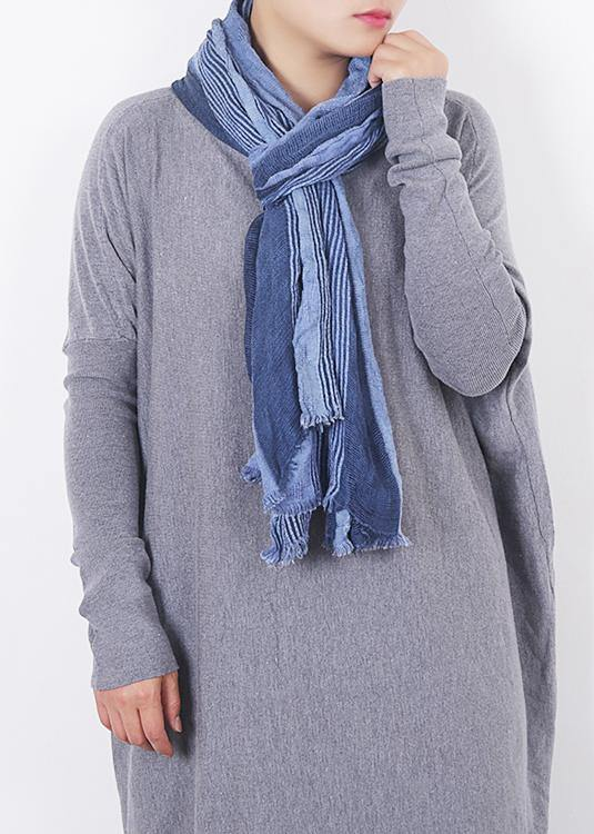 fall new design blue women patchwork scarves grid Imitation cashmere scarf