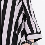 Load image into Gallery viewer, fashion striped cotton caftans Loose fitting tie waist cotton maxi dress fine v neck cotton caftans