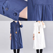Load image into Gallery viewer, fashion white linen shift dress casual holiday dresses Fine wrinkled solid color linen cotton dress