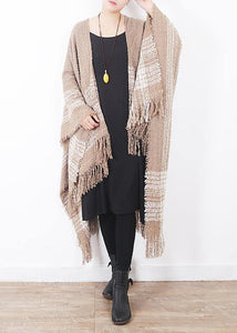 fashion women oversize tassel scarf knitting small fresh cloak sacarfes