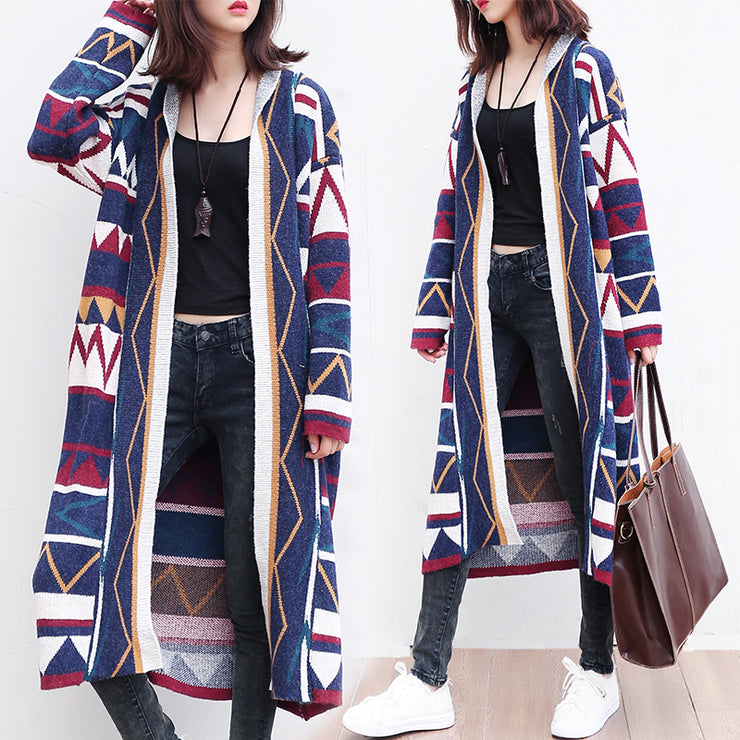 multi color fashion cotton knit cardigans loose casual long sleeve slim fit sweater coats