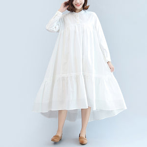 new fall white casual cotton plus size