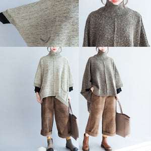 new unique cotton pullover sweaters plus size high neck fashion knit tops