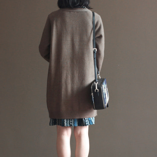 nude vintage rabbit wool blended sweater coats plus size casual long sleeve knit cardigans